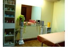 Gabinete preparado para el taller de fangoterapia y algas